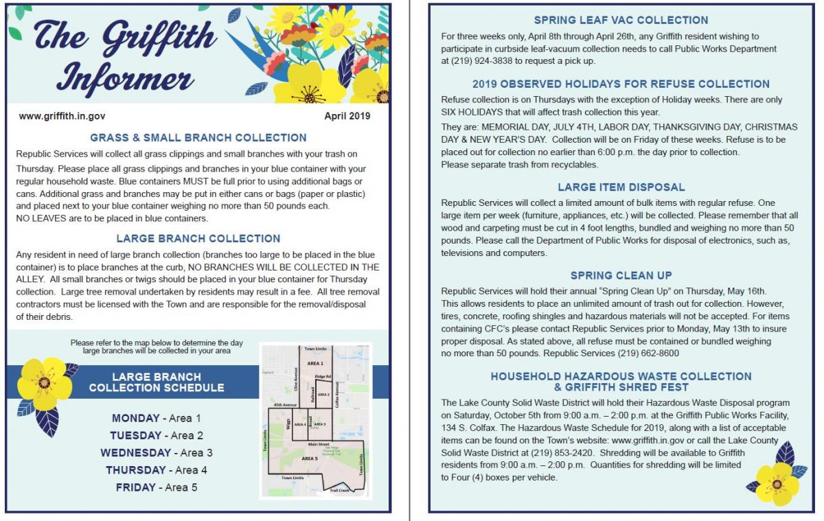 Spring 2019 Griffith Informer | Town of Griffith Indiana
